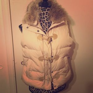 Ralph Lauren - Down Puffer Vest Coyote Fur Medium
